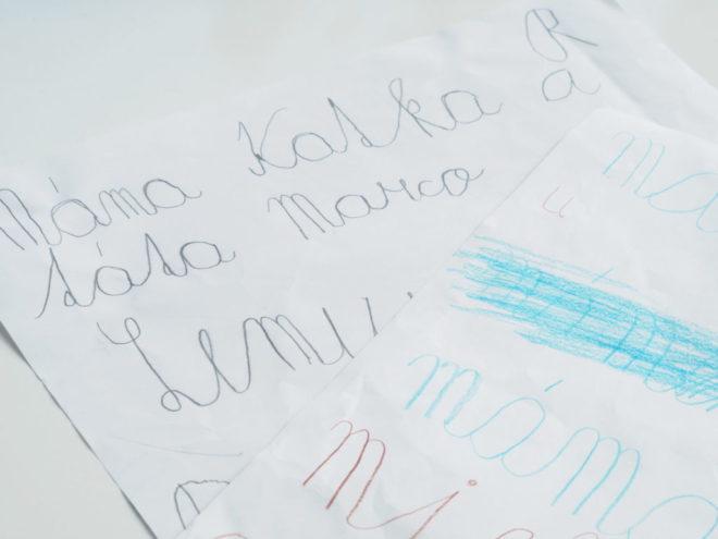 jak naučit dítě psát
